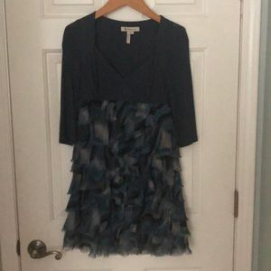 BCBG Blue ruffle dress